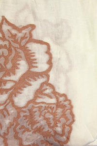 Cotton Rose Embroidered Scarf