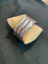 Load image into Gallery viewer, Sterling Silver Cuff Bracelet Rope Detailing