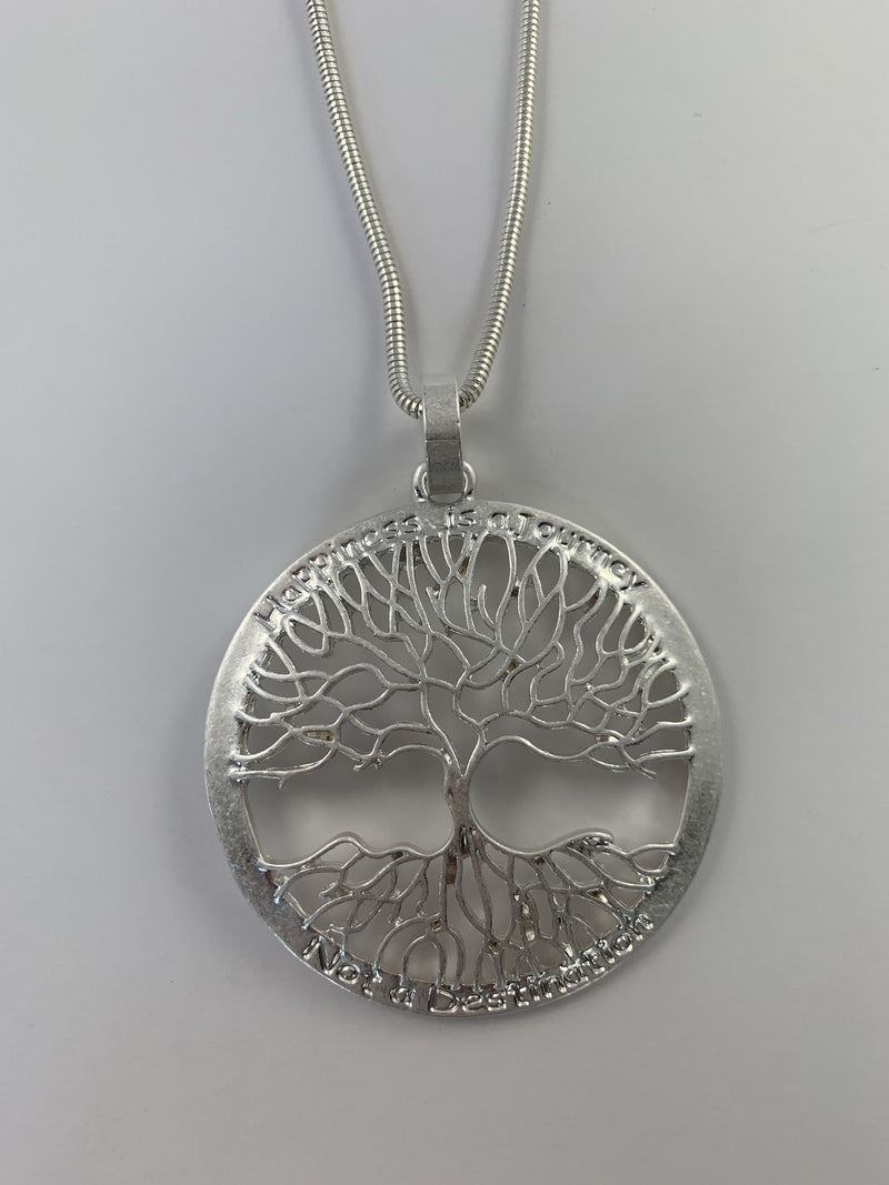 Tree of Life Happiness is a Journey Necklace