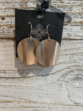 Load image into Gallery viewer, Sterling Silver Handmade Disk Earrings