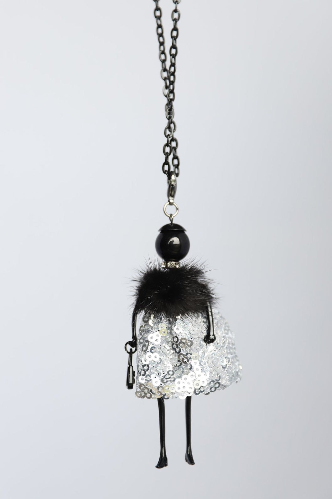 Sequin Skirt French Doll Necklace