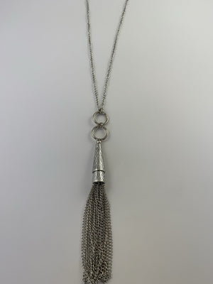 Cone Chain Tassel Necklace