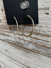 Load image into Gallery viewer, Sterling Silver Flat Hoops