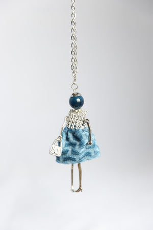 Diamante Bodice French Doll Necklace