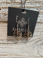 Load image into Gallery viewer, Sterling Silver Leaf Earrings