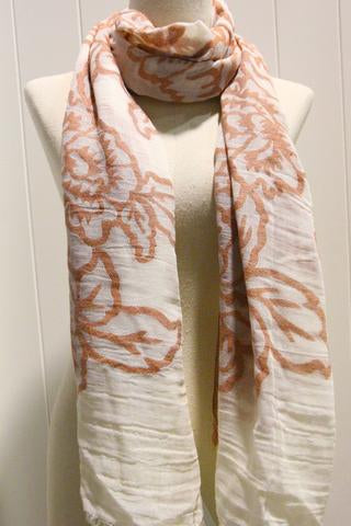 Rose Embroidered Scarf