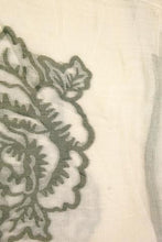 Load image into Gallery viewer, Cotton Rose Embroidered Scarf