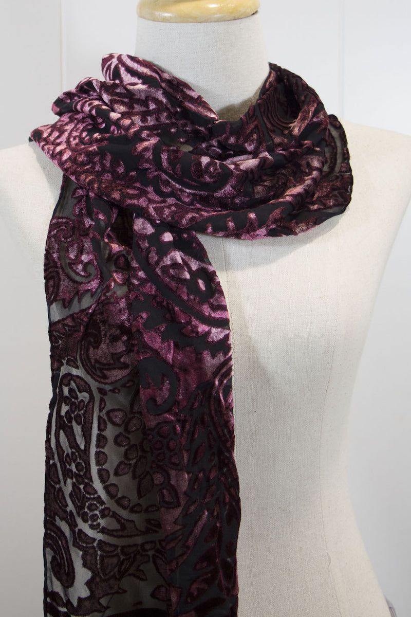Velvet Embroidered Scarf