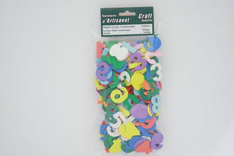CB1055 Fun Foam Pieces Number Shapes Multi Color 1 bag approximately 15 grams