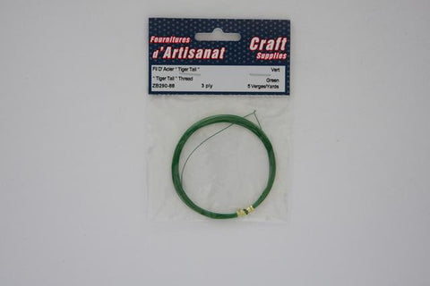 ZB290-88 Tiger Tail Thread 3 Ply Green 5 Yards