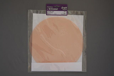 ZF0991-41 Round Nylon Tulle 9 inch Peach 8 Pieces
