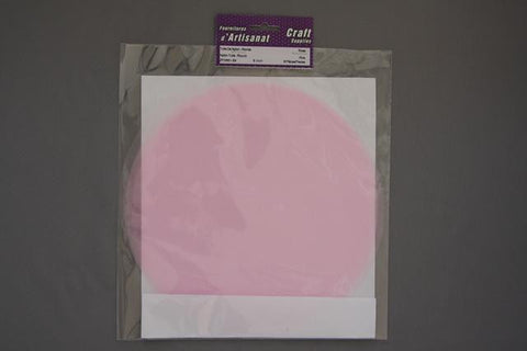 ZF0991-54 Round Nylon Tulle 9 inch Pink 8 Pieces