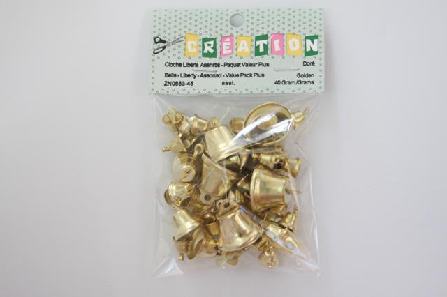 ZN0553-45 Liberty Bells Assorted Size Gold 40 grams