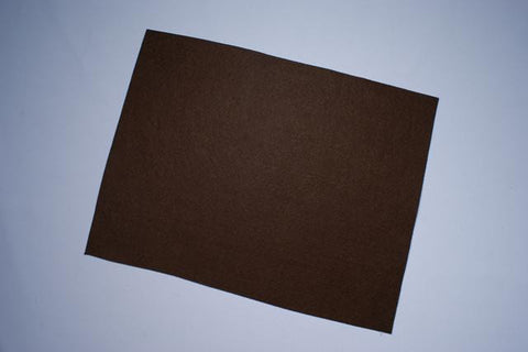 ZP103-33 Felt Rectangular 9 x 12 inch Dark Brown 25 Pieces