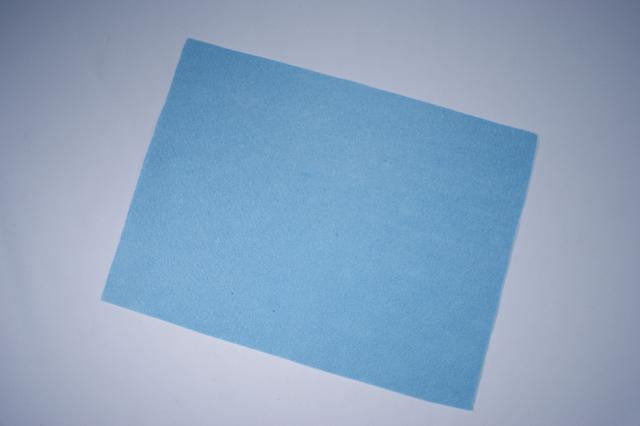 ZP103-66 Felt Rectangular 9 x 12 inch Light Blue 25 Pieces
