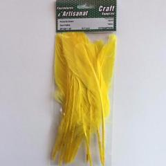 ZP10911-34 Duck Feather 5 - 7 inch Yellow 12 Pieces