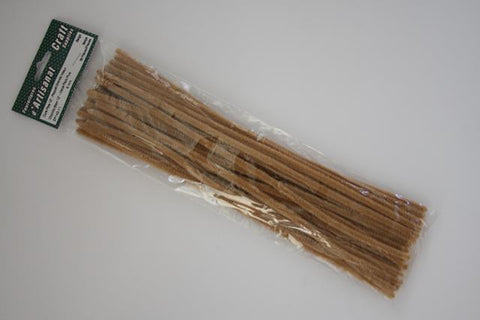 ZP142-11 Chenille Stem 6 mm. 12 inch Beige 36 pieces