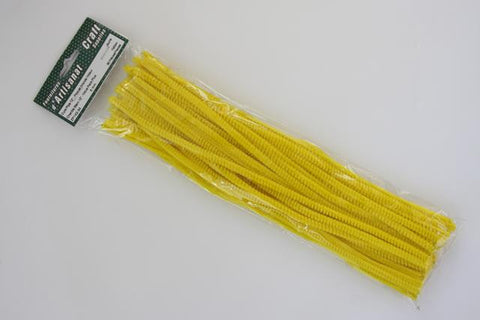 ZP142-34 Chenille Stem 6 mm. 12 inch Yellow 36 pieces