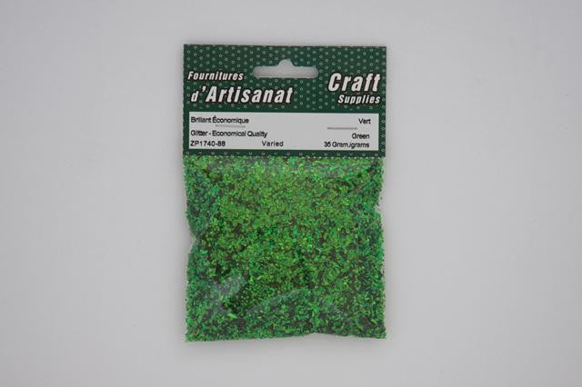 ZP1740-88 Glitter For Decoration Varied 35 Grams Green