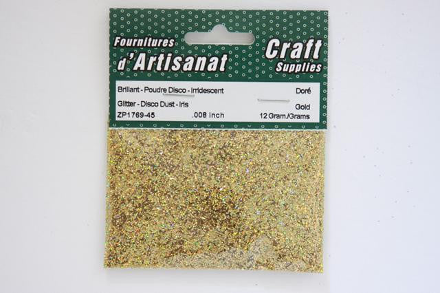 ZP1769-45 Glitter For Decoration Disco 0.008 inch 12 Grams Gold