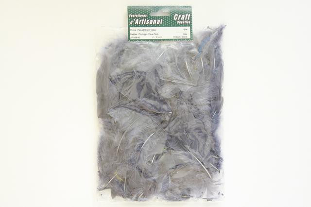 ZP183-60 Feather Plumage 2-3 inch 8 Grams Grey