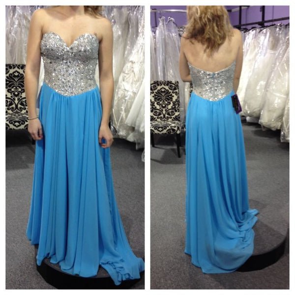blue Prom Dress,long Prom Dress,charming Prom Dress,sweetheart prom dress,party dress,PD027