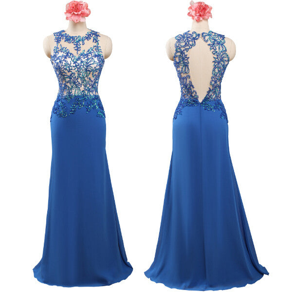 blue Prom Dress,long Prom Dress,cheap Prom Dress,long bridesmaid dress,simple prom dress,PD026