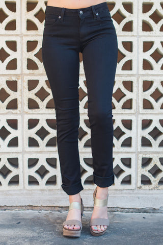 Dark as Night Skinny Jeans