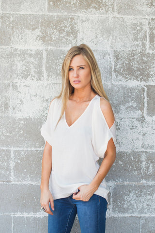 All The Best Cold Shoulder Top