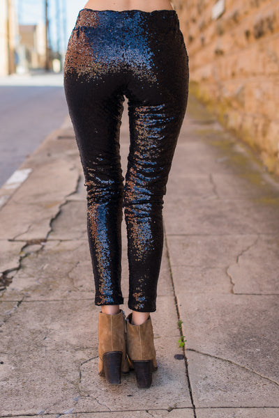 Dancing Dreams Skinny Pants - Black