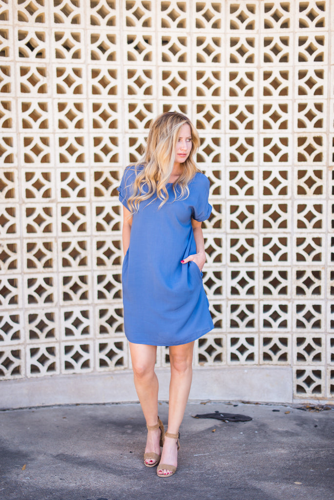 Love is in the Air Dress - Blue