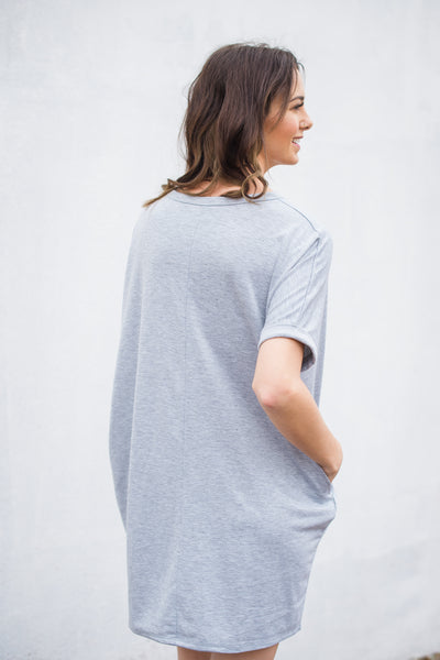 Simple Minds Dress - Heather Grey