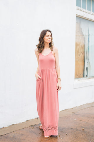 Sweet Things Maxi Dress - Mauve