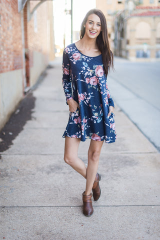 Make Me Yours  Dress - Navy