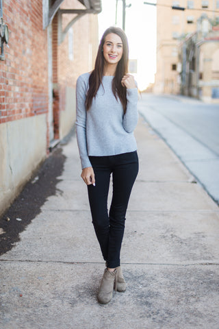 Simple Beauty Sweater - Grey
