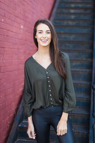 Perfect Harmony Top - Army Green