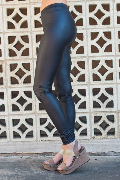 Fits Like a Glove Faux Leather Leggings