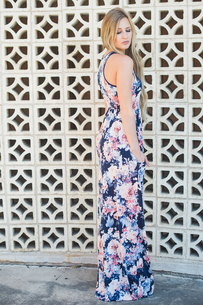 Living the Life Maxi Dress - Navy