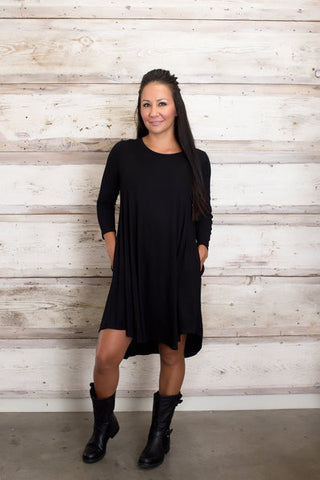 Ready for Anything T-Shirt Dress - Black