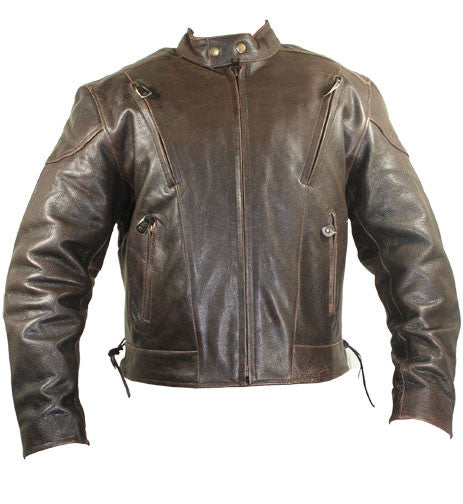 5b27a0d9dab Xelement Men s Retro Brown Premium Speedster Motorcycle Jacket with Zip Out  Lining