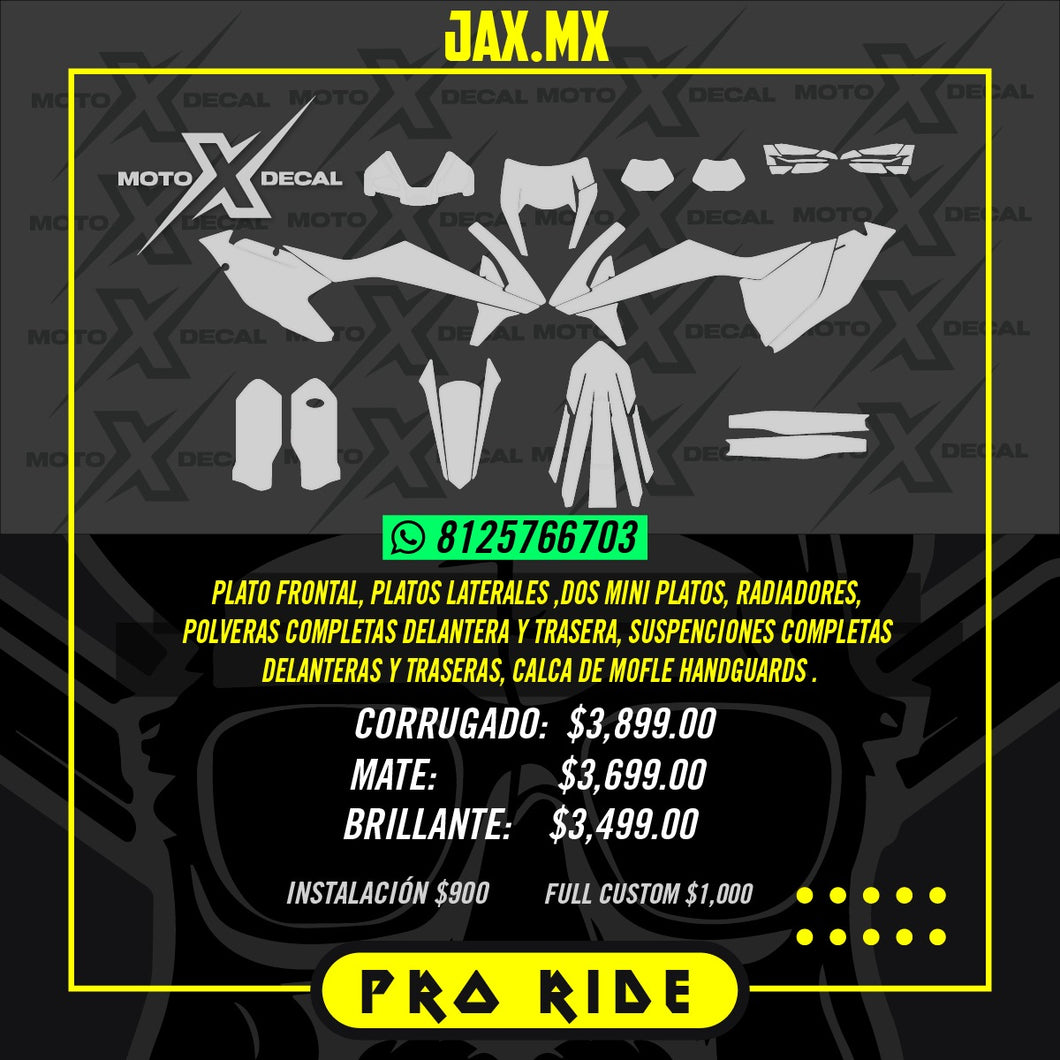 KIT DE GRAFICOS PRO RIDE