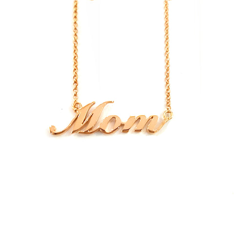 Personalized Name Necklace in Rose Gold Tone