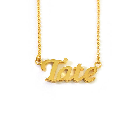 Personalized Name Necklace in Yellow Gold Tone