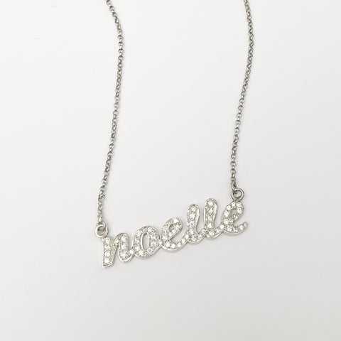 Personalized Studded Name Necklace