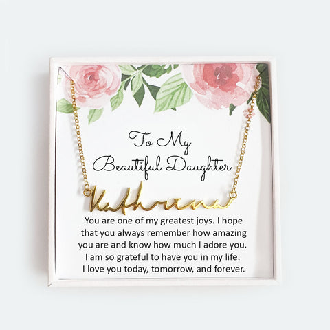 To My Beautiful Daughter - Personalized Necklace