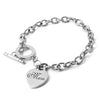 Custom Engraved Heart Chain Bracelet