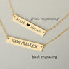 Custom Engraved Couple's Names and Anniversary Love Bar Necklace