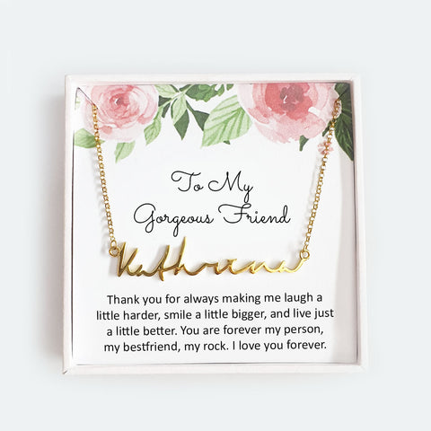 To My Gorgeous Friend - Personalized Necklace