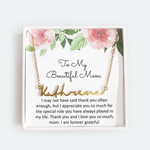 To My Beautiful Mom - Personalized Necklace