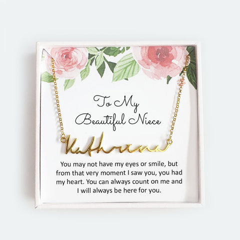 To My Beautiful Niece - Personalized Necklace